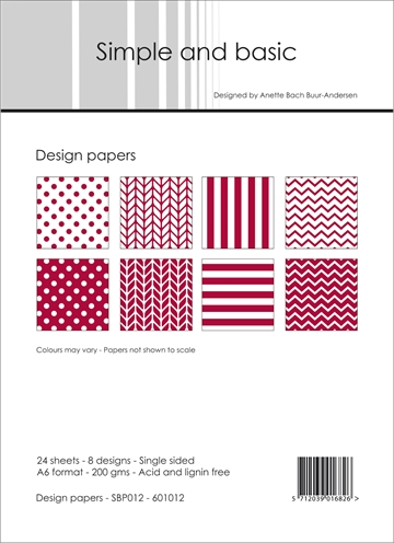 Happymade - Simple and basic - Design papers - A6 - SBP012