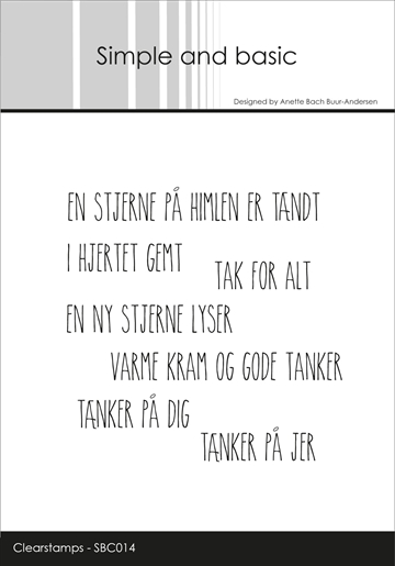 Simple and basic - Clear stamp - En stjerne på himlen (SBC014)