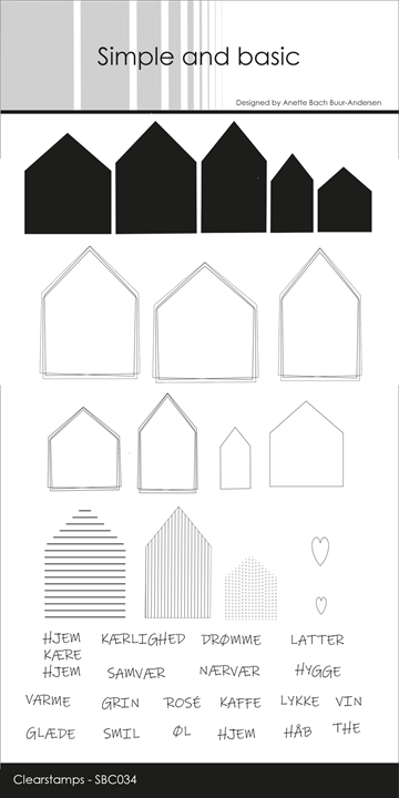 Happymade - Simple and basic - Clear stamp - Huse (SBC034)