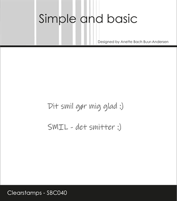 Happymade - Simple and basic - Clear stamp - SMIL (SBC040)