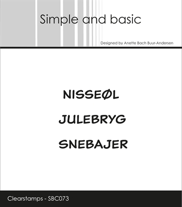 Happymade - Simple and basic - Clear stamp - Nisseøl/Julebryg/Snebajer (SBC073)