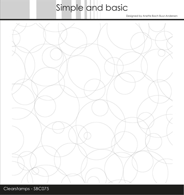 Happymade - Simple and basic - Clear stamp - Background - Circles (SBC075)