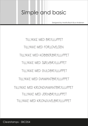 Happymade - Simple and basic - Clear stamp - Alle Bryllupperne (SBC054)