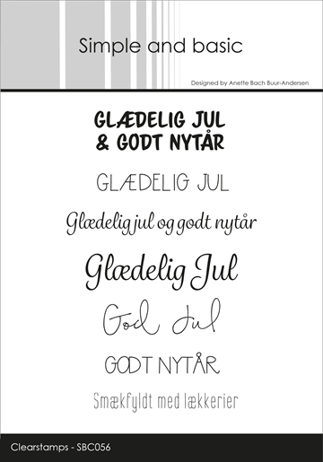 Happymade - Simple and basic - Clear stamp - Glædelig jul... (SBC056)