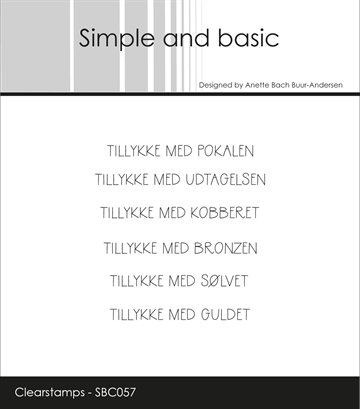 Happymade - Simple and basic - Clear stamp - Tillykke med Pokalen... (SBC057)