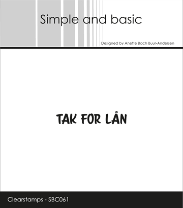 Happymade - Simple and basic - Clear stamp - Tak for lån (SBC061)