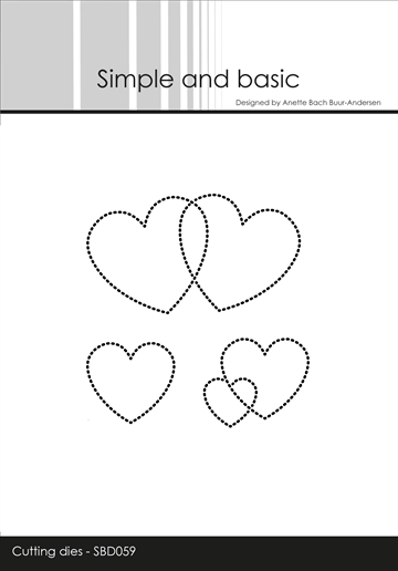 Happymade - Simple and basic - Die - Dotted Hearts (SBD059)