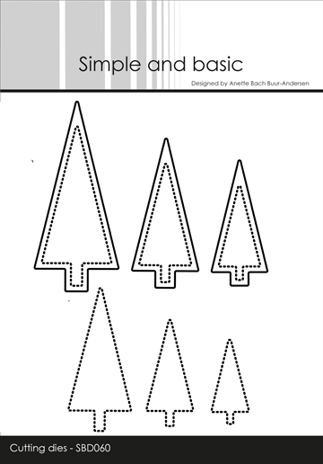 Happymade - Simple and basic - Die - Christmas Trees and Dotted Christmas Trees (SBD060)