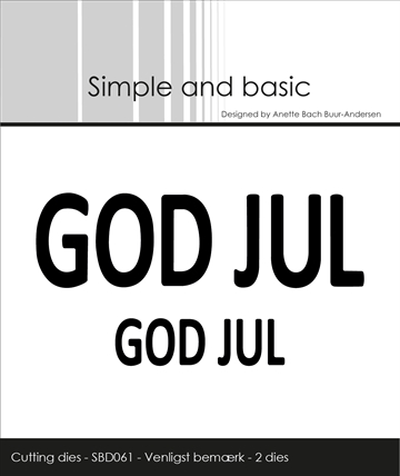 Happymade - Simple and basic - Die - Text Plate - GOD JUL (SBD061)