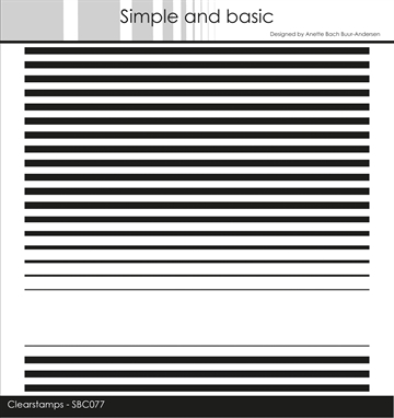 Happymade - Simple and basic - Clear stamp - Background - Stripes (SBC077)