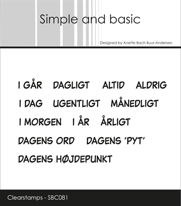 Happymade - Simple and basic - Clear stamp - Planner - Tidspunkter (SBC081)