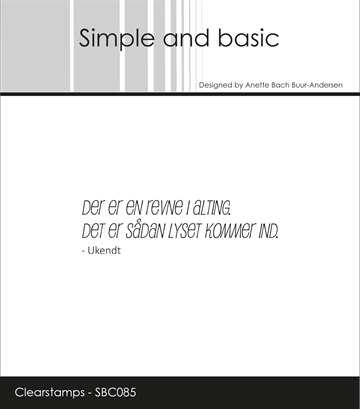Happymade - Simple and basic - Clear stamp - Citat - Der er en Revne... (SBC085)