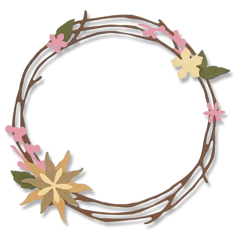 Happymade - Sizzix Thinlits Die - Pretty Wreath (662575)