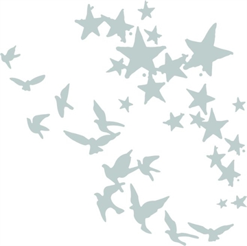Happymade - Sizzix Thinlits Die - Birds and stars (662673)