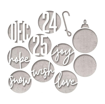 Happymade - Sizzix Thinlits Die - Circle Words, Christmas (664205)