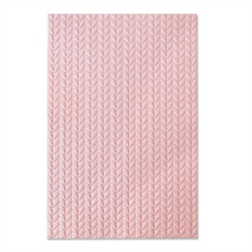 Happymade - Sizzix 3D Embossing folder - Knitted (664509)