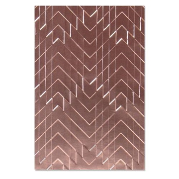 Happymade - Sizzix 3D Embossing folder - Staggered Chevrons (664761)