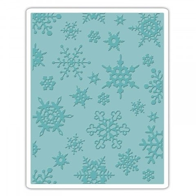 Happymade - Sizzix Embossing folder - Texture Fades - Simple snowflakes (662432)
