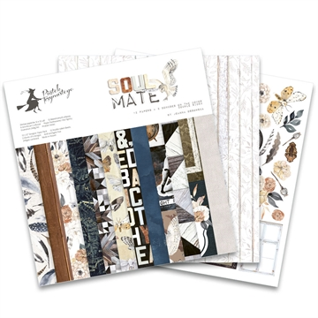 "Happymade - Piatek - Design papers - Soulmate - 12x12"" (pakn. m/12 + 2 bonus ark)"