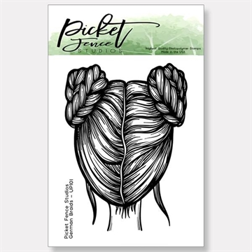 Happymade - Picket Fence - Clear stamp - German Braids (UP-101)