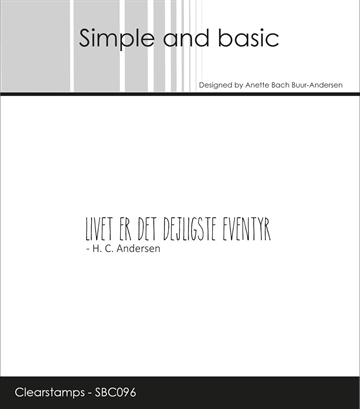 Happymade - Simple and basic - Clear stamp - Citat - Livet er det dejligste Eventyr (SBC096)