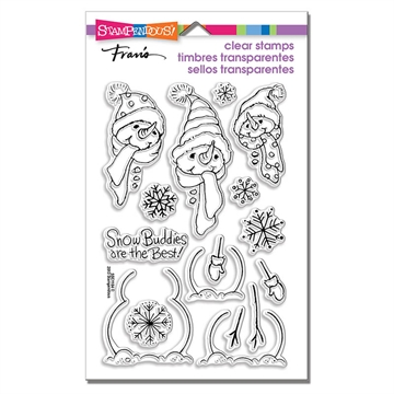 happymade - Stampendous - Build a snowman