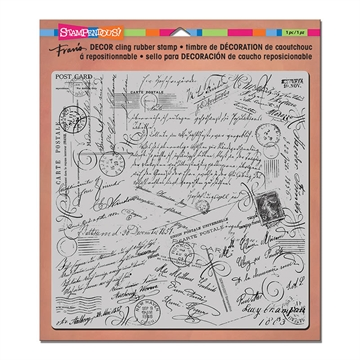 Happymade - Stampendous - Cling Rubber Stamp - Decor - Script (DCR103)