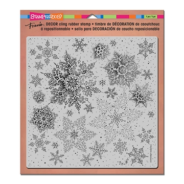 Happymade - Stampendous - Cling Rubber Stamp - Decor - Snowflakes (DCR102)