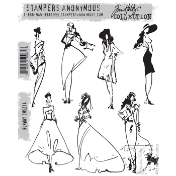 Happymade - Tim Holtz Cling Rubber Stamp Set - Runway (CMS214)