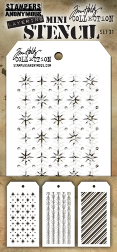 Happymade - Tim Holtz - MINI Stencil Set (#31)