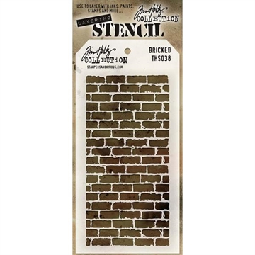 Happymade - Tim Holtz - Stencil Set THS038 (Bricked)