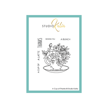 Happymade - Studio Katia - Clear stamp - A Cup Of Thanks - STKS069