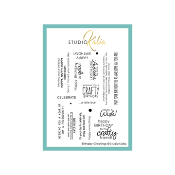 Happymade - Studio Katia - Clear stamp - Birthday Greetings - STKS057