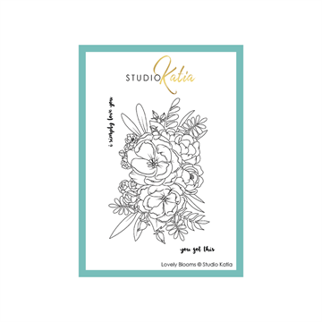 Studio Katia - Clear stamp - Lovely Blooms - STKS058