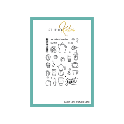 Happymde - Studio Katia - Clear stamp - Sweet Latte - STKS036