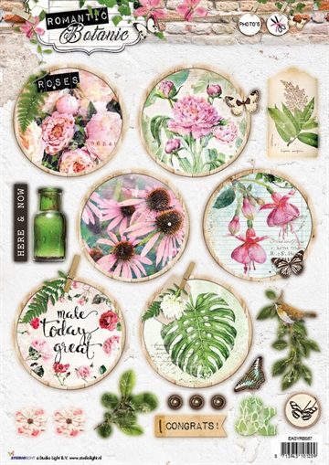 Happymade - Studio Light - Die cuts - Romantic Botanic (EASYRB587)