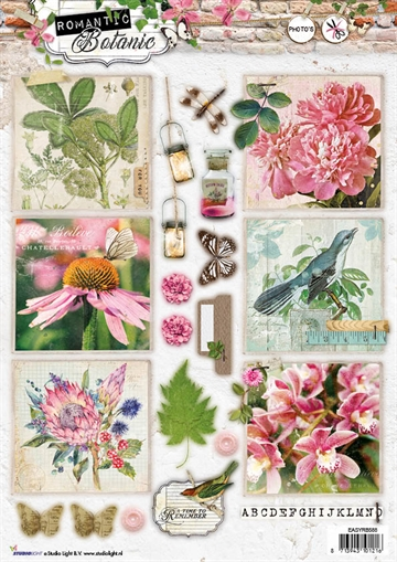 Happymade - Studio Light - Die cuts - Romantic Botanic (EASYRB588)