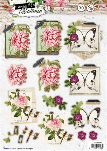 Happymade - Studio Light - Die cuts - Romantic Botanic (EASYRB590)