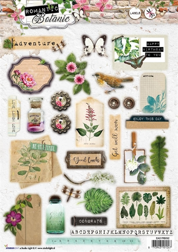 Happymade - Studio Light - Die cuts - Romantic Botanic (EASYRB592)
