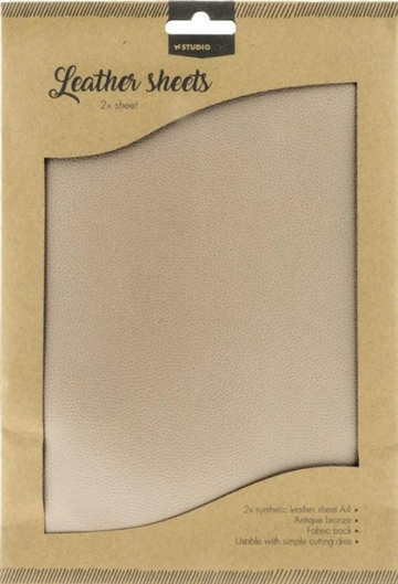 Happymade - Studio Light - Fake Leather Sheets (2 stk. A4) - FSSL001