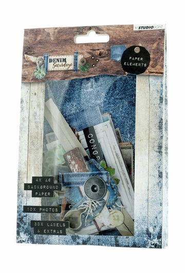 Happymade - Studio Light - Die cuts - Denim Saturdays (EASYDEN645)