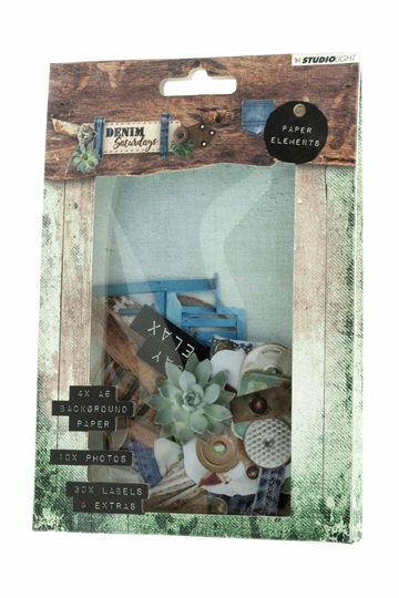 Happymade - Studio Light - Die cuts - Denim Saturdays (EASYDEN646)