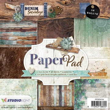 Happymade - Studio Light Paper Pad 15x15cm - PPDEN104