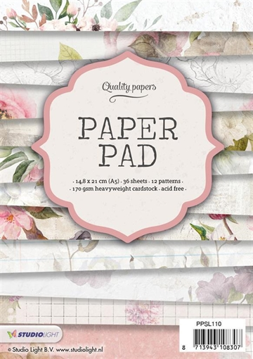 Happymade - Studio Light Paper Pad 15x15cm - PPSL110
