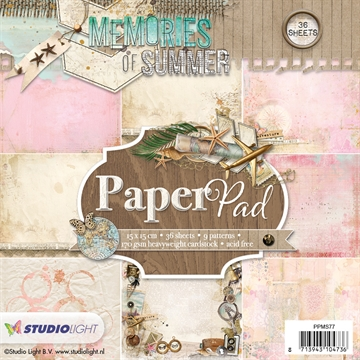 Happymade - Studio Light Paper Pad 15x15cm - PPMS77