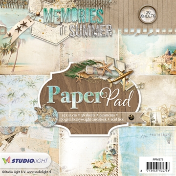 Happymade - Studio Light Paper Pad 15x15cm - PPMS78