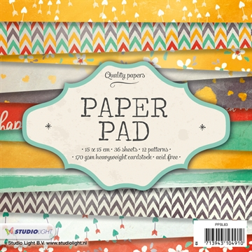 Happymade - Studio Light Paper Pad 15x15cm - PPSL83