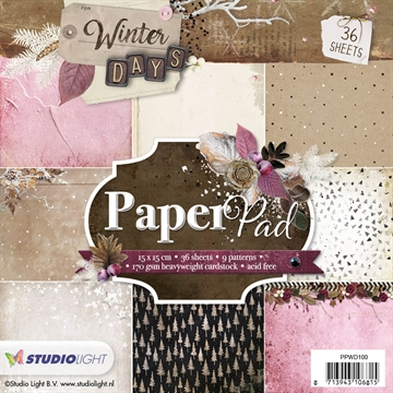Studio Light Paper Pad 15x15cm - PPWD100