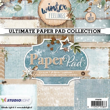 Happymade - Studio Light Paper Pad 15x15cm - PPWF90