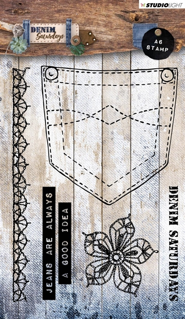 Happymade - Studio Light - Clear stamp - Denim Saturdays - STAMPDEN326
